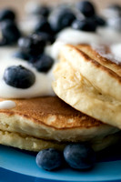 Stack of Blueberry Pancakes